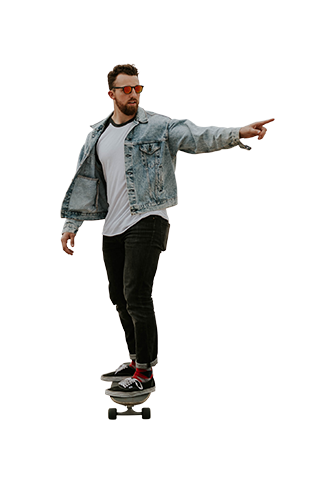 People pointing png. Skater architecture