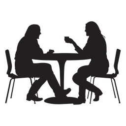 People sitting at a table png. Transparent or svg to