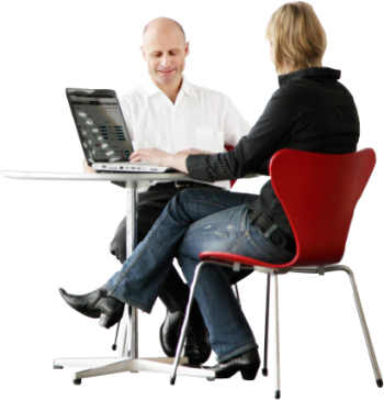 People sitting at a table png. Man desk transparent images