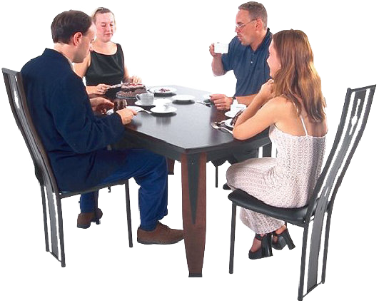 People sitting at a table png. What makes health care