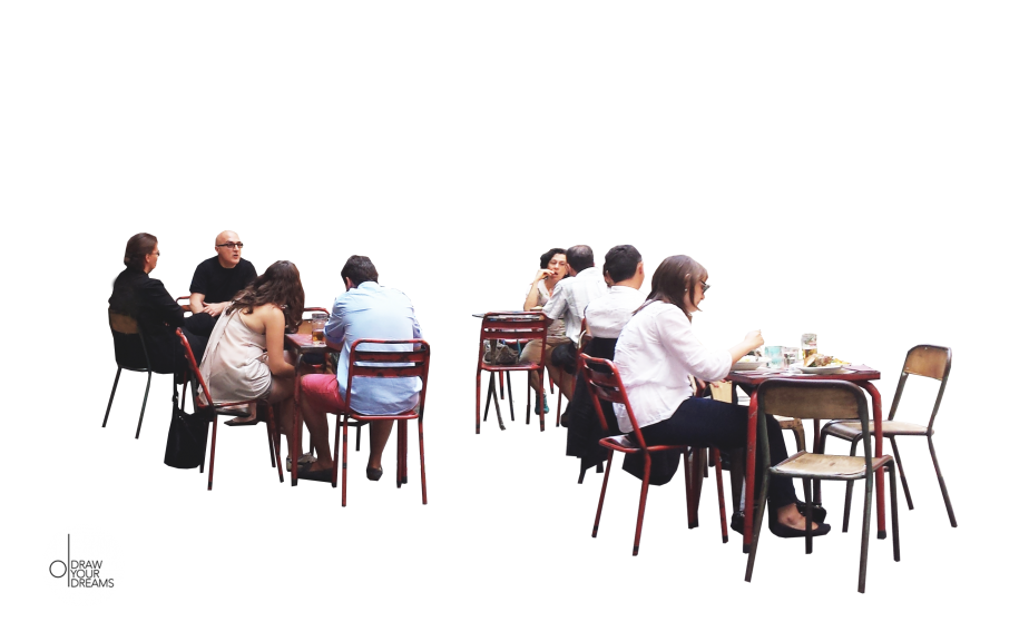 People sitting at a table png. Nos gusta compartir drawyourdreams