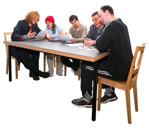 People sitting at a table png. Images in collection page