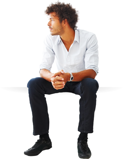 man sitting png