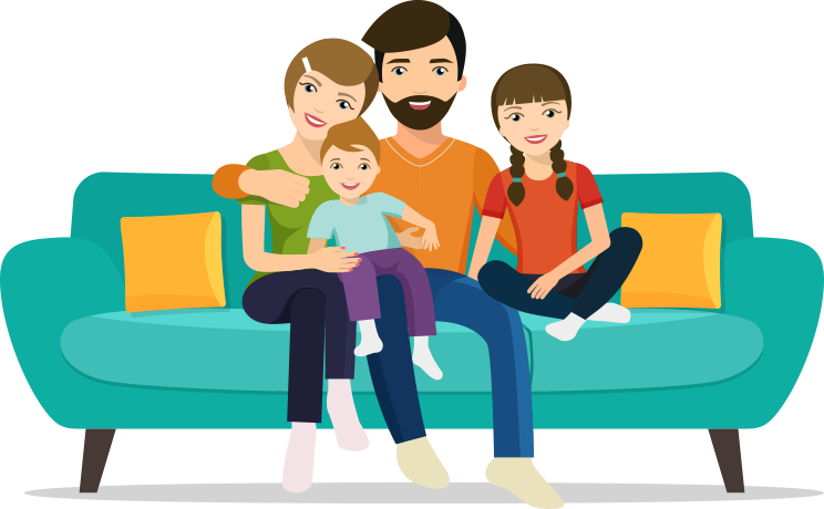 People sitting on a couch png. Burn injury risk checker