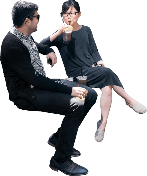 People sitting on bench png. Man women free images