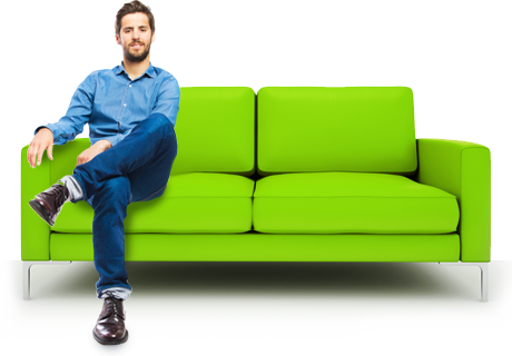 People sitting on couch png. Untitled