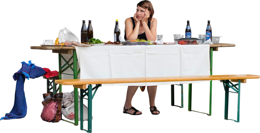 People table png. At a barbecue party