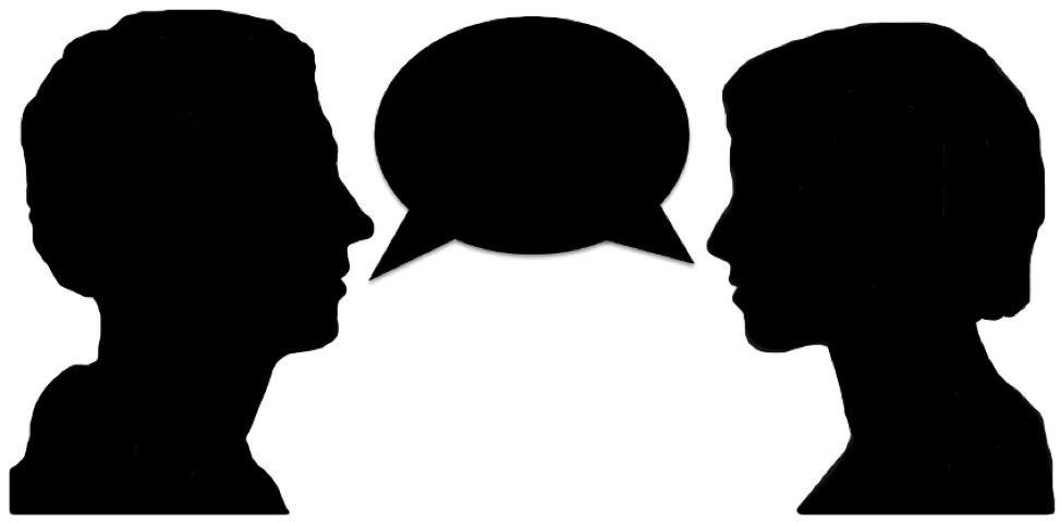 People talking png. Two transparent images