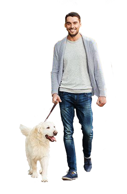 Person with dogs png