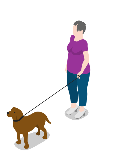 People walking dog png. Person woman icon free