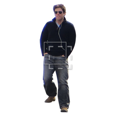 People walking up stairs png. Man downstairs with headphones