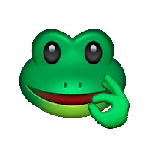 Pepe emoji png. The frog know your
