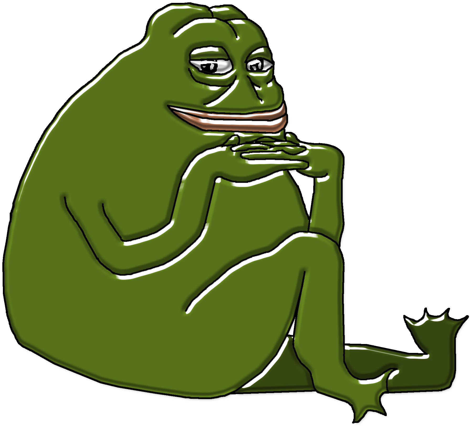 Pepe vector classic. Hq toad the frog
