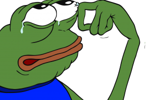 Pepe vector transparent background. The frog sad png