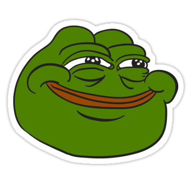 Pepe the frog sad png. Happy stickers pinterest frogs