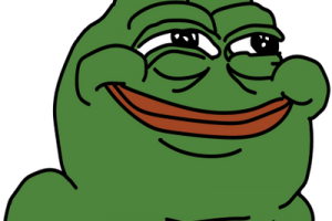 Pepe vector clear background. The frog transparent check