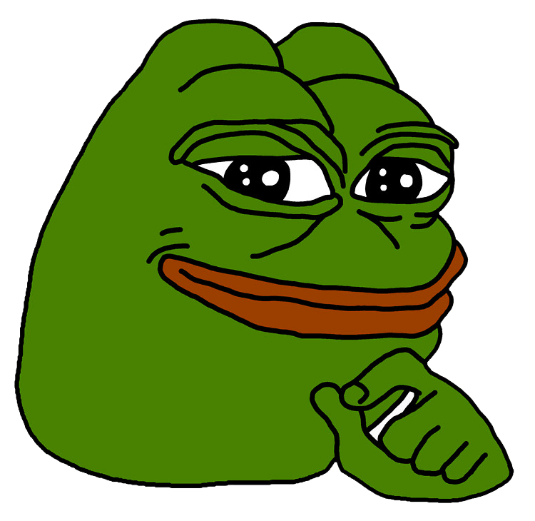 Download free png smug. Pepe vector feels good man graphic transparent