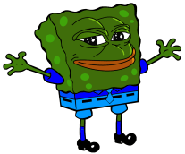 Rare collection spongebob. Pepe vector feels good man clip black and white download