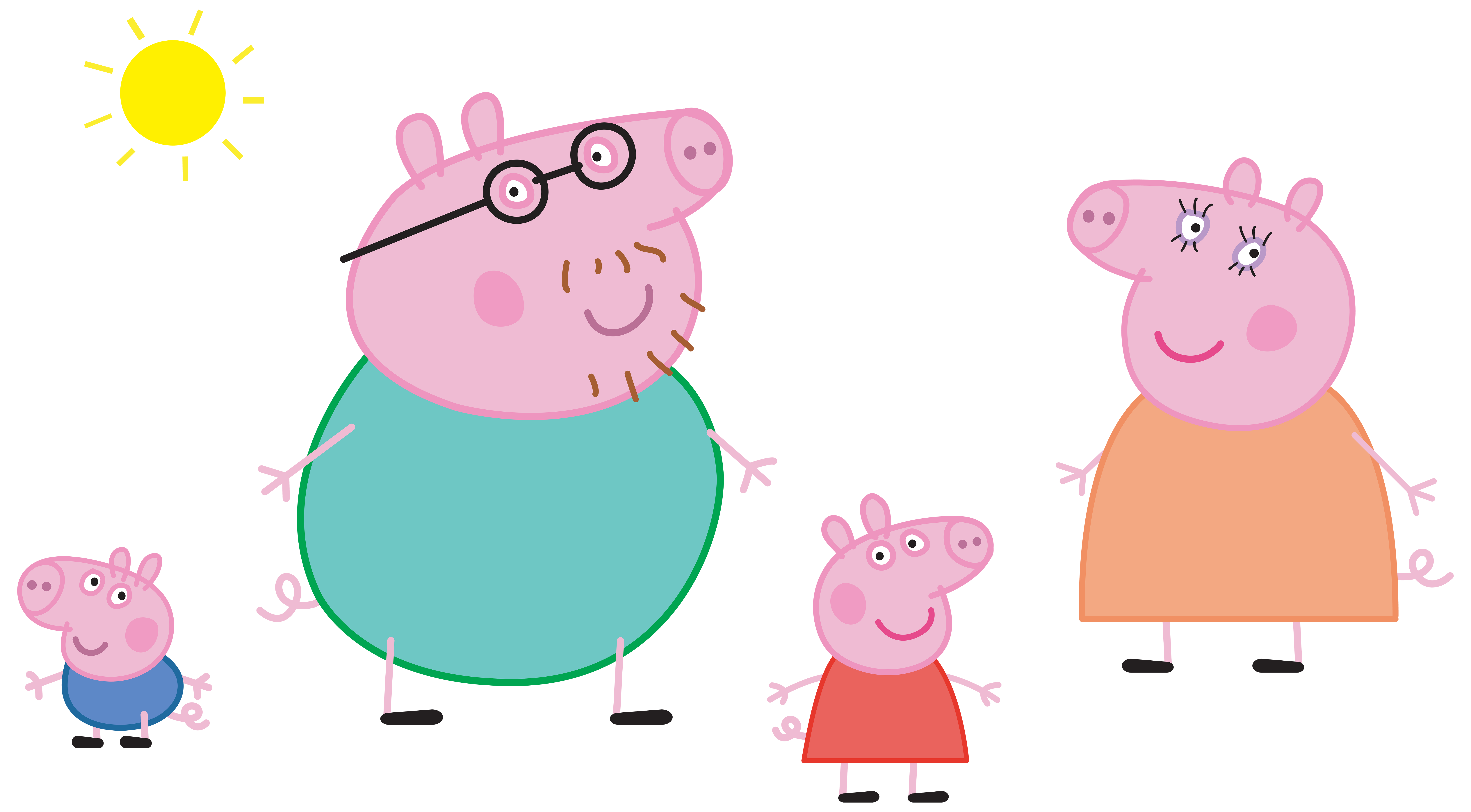 Peppa pig family logo. Any clip clipart vector royalty free