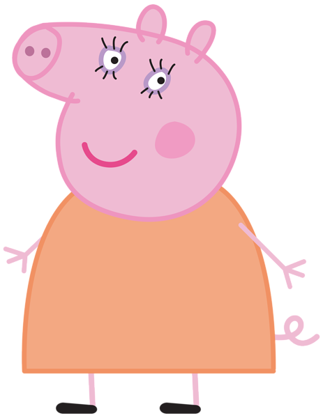Peppa clipart. Mummy pig transparent png