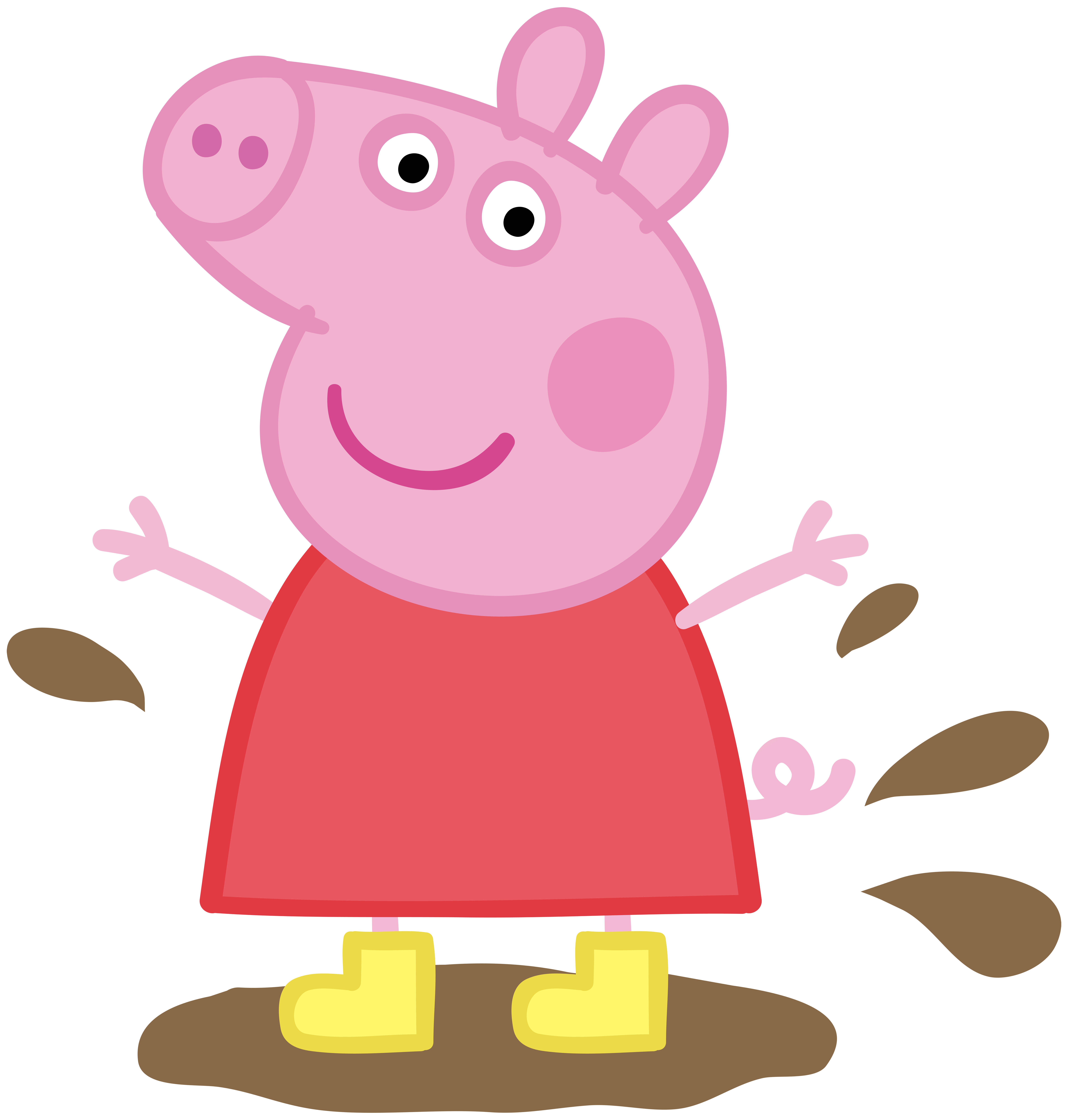 Puddle clipart png. Peppa pig in muddy