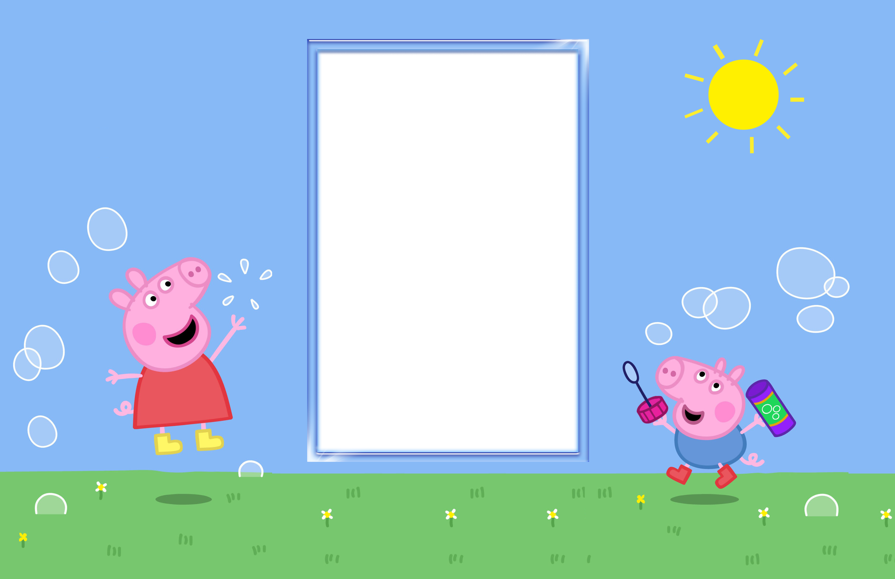 Peppa clipart christmas png. Pig kids transparent frame