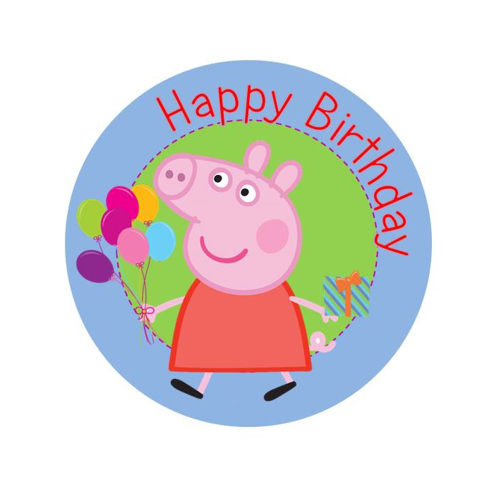 Peppa clipart happy birthday. Free pig at getdrawings