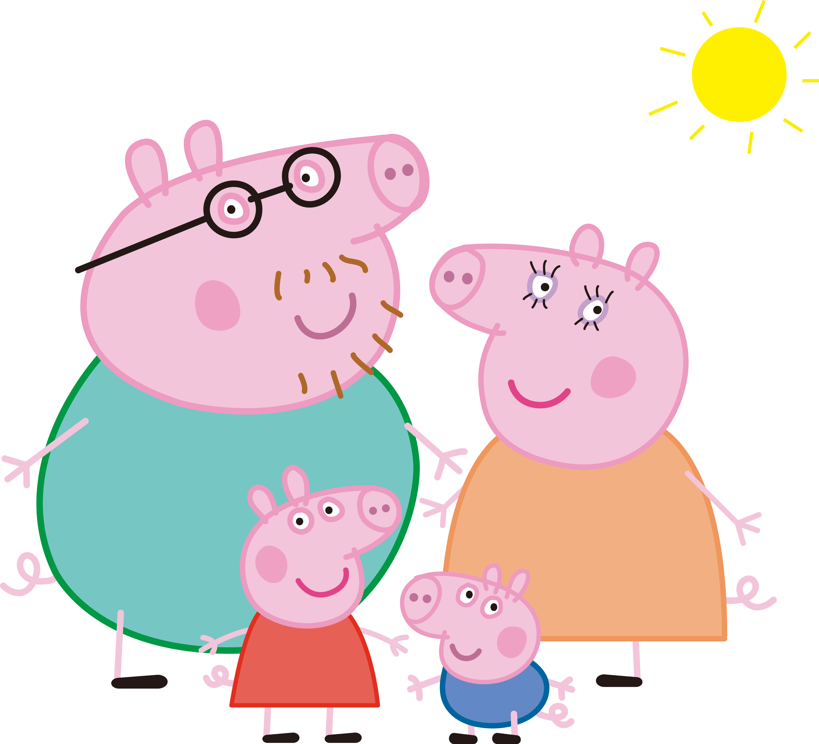 Peppa Mummy Pig Transparent & PNG Clipart Free Download - YA-webdesign