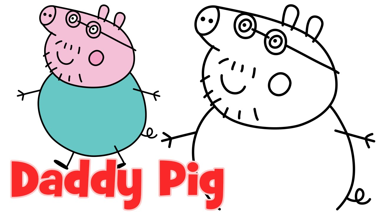 Peppa clipart sketch. How to draw pig