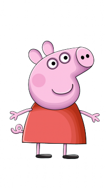 How to draw peppa. Drawing icebreakers pig vector black and white download