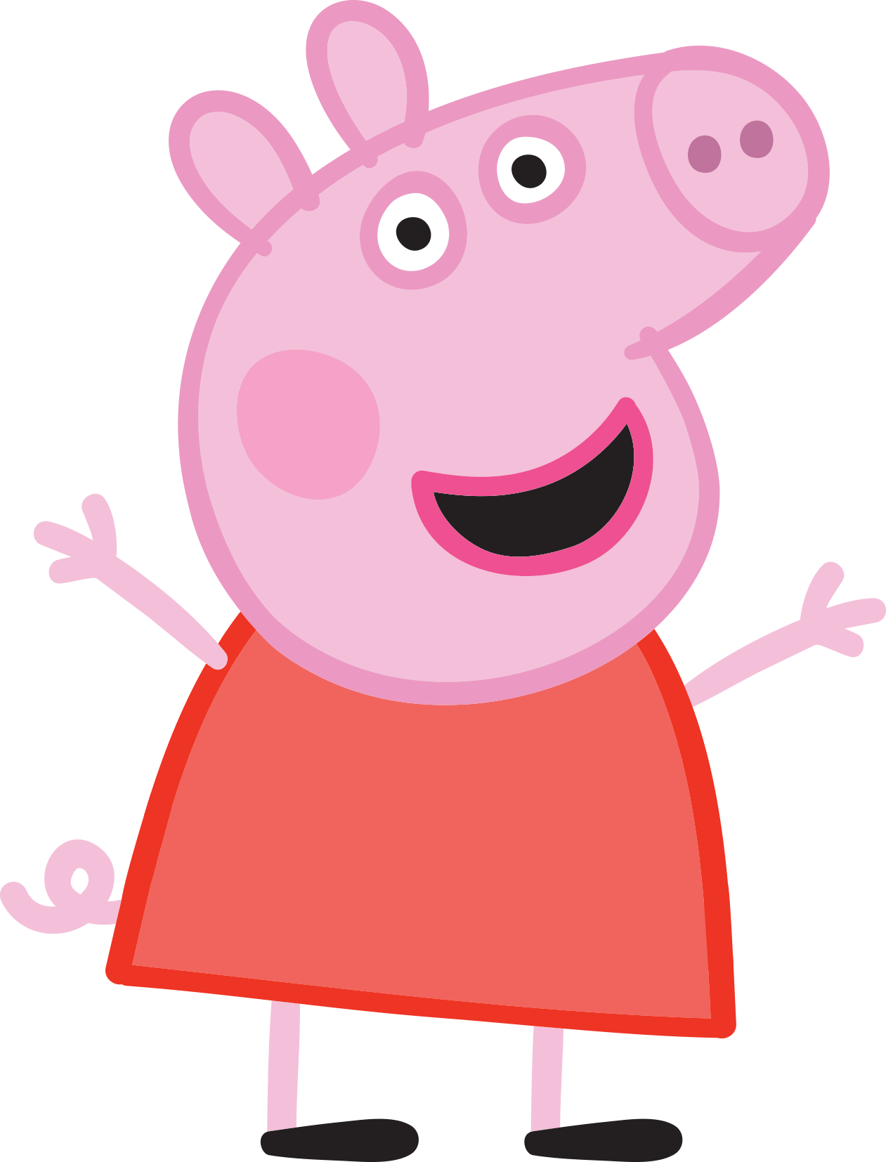 Peppa pig bailarina png. Mask pigs adventure iron