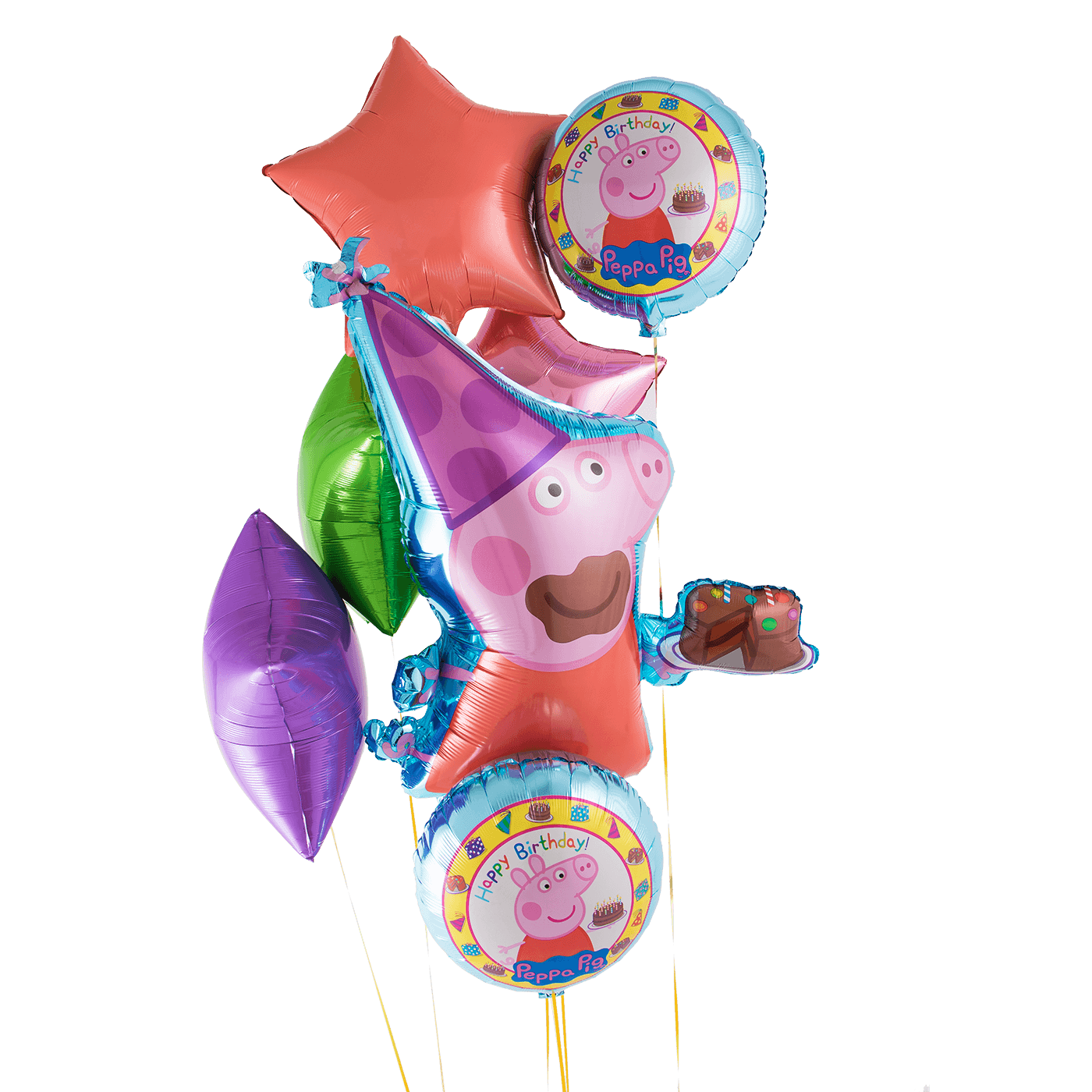 Peppa pig birthday png. Bunch tether float cake