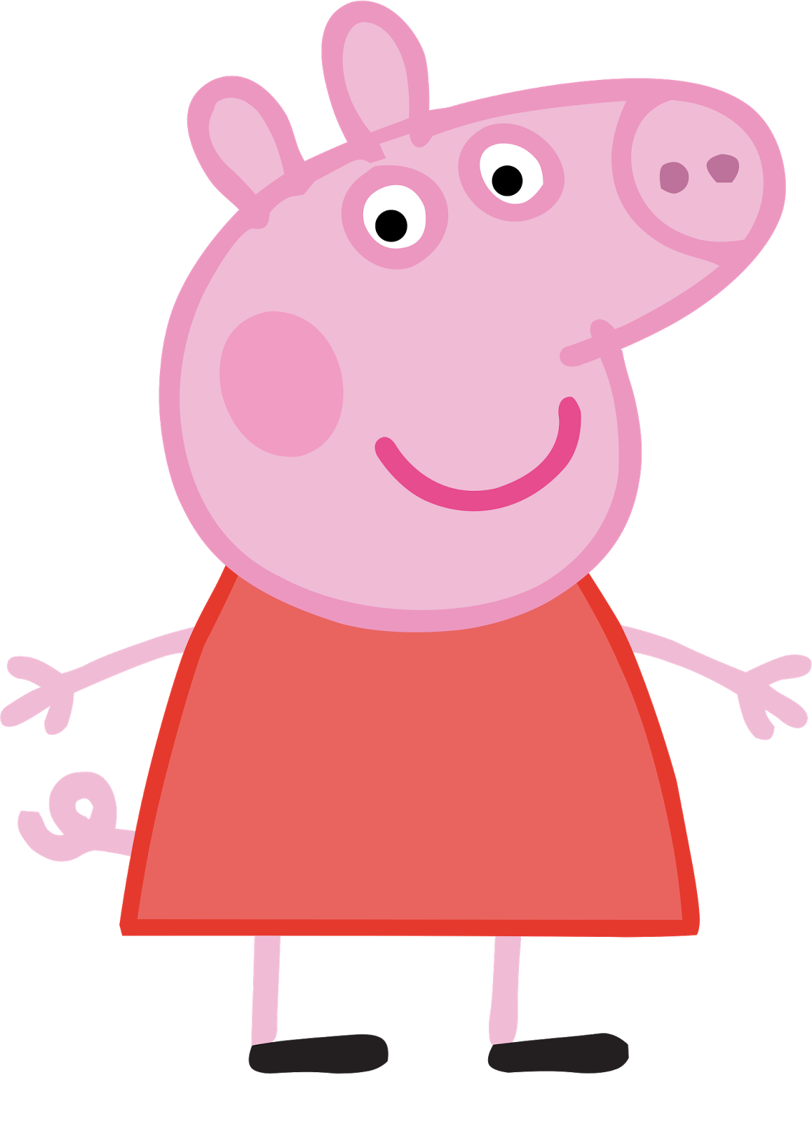 Peppa pig em png. Cartoon characters hq birthday