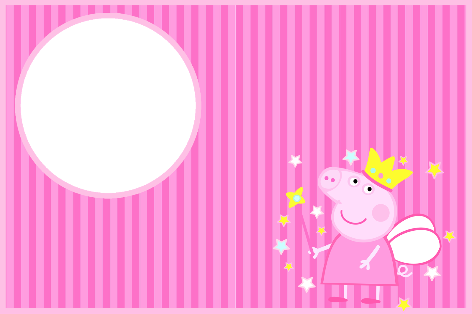 Peppa pig fairy png. Invitations and free party