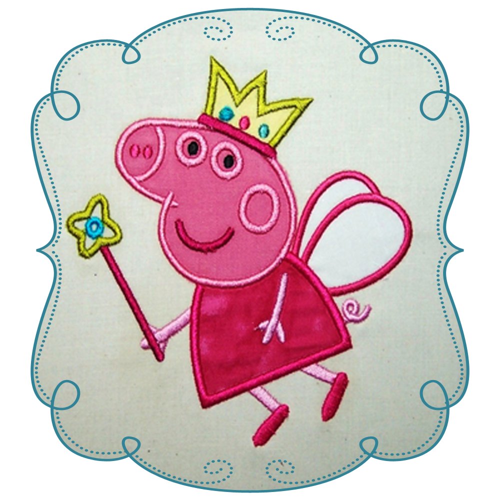 Peppa pig fairy png. Applique pippa