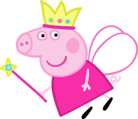 Peppa pig fairy png. Vetores vector pinterest