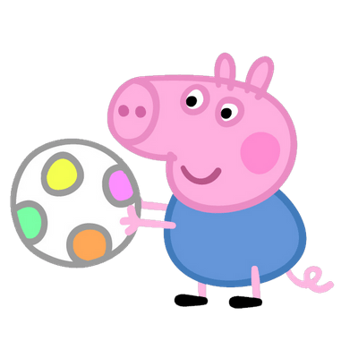 Peppa pig em png. Transparent images stickpng george