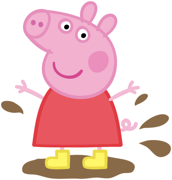 Peppa pig muddy puddle png. In transparent image cartoons