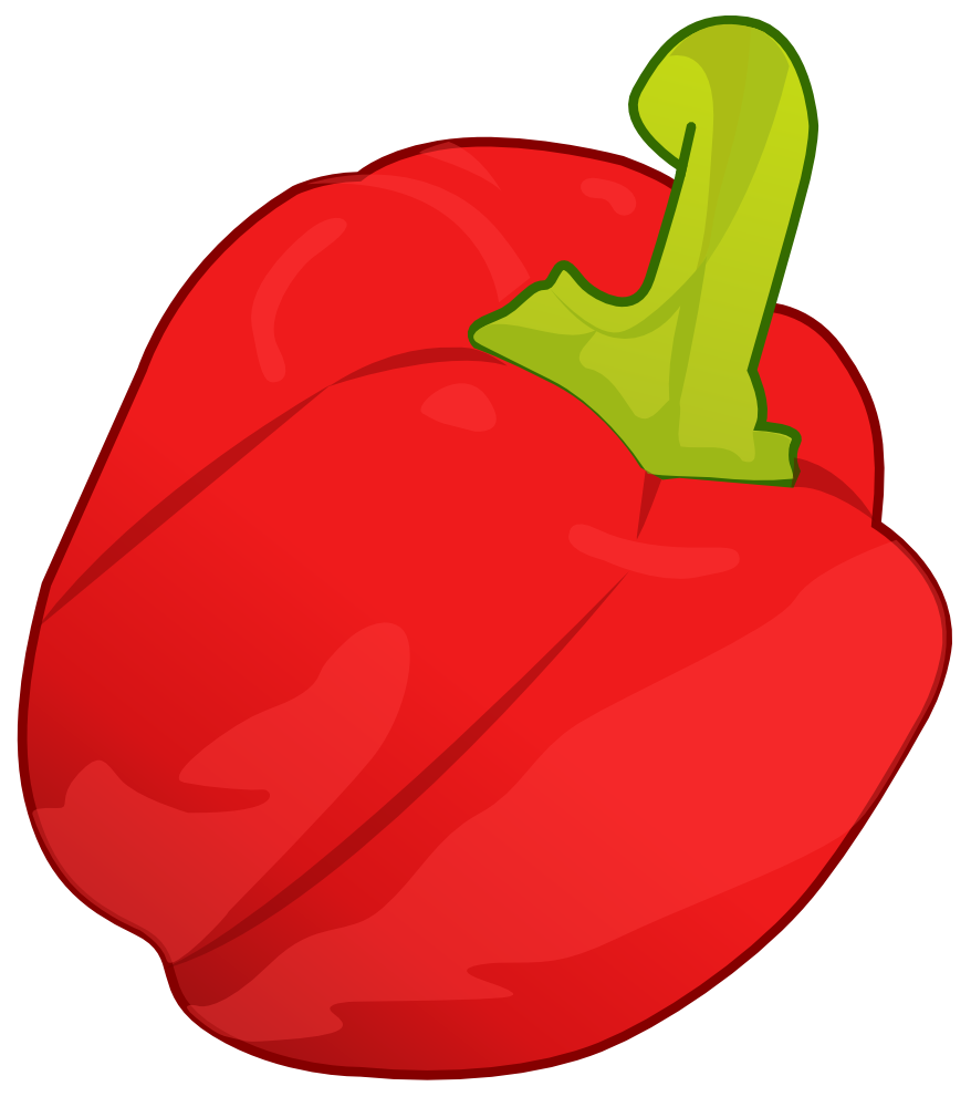 Pepper clipart. Red