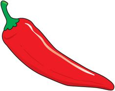 Peppers clipart. Hot spicy chili pepper