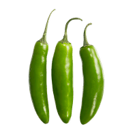 Pepper transparent serrano. Peppers tomatoes fortinos