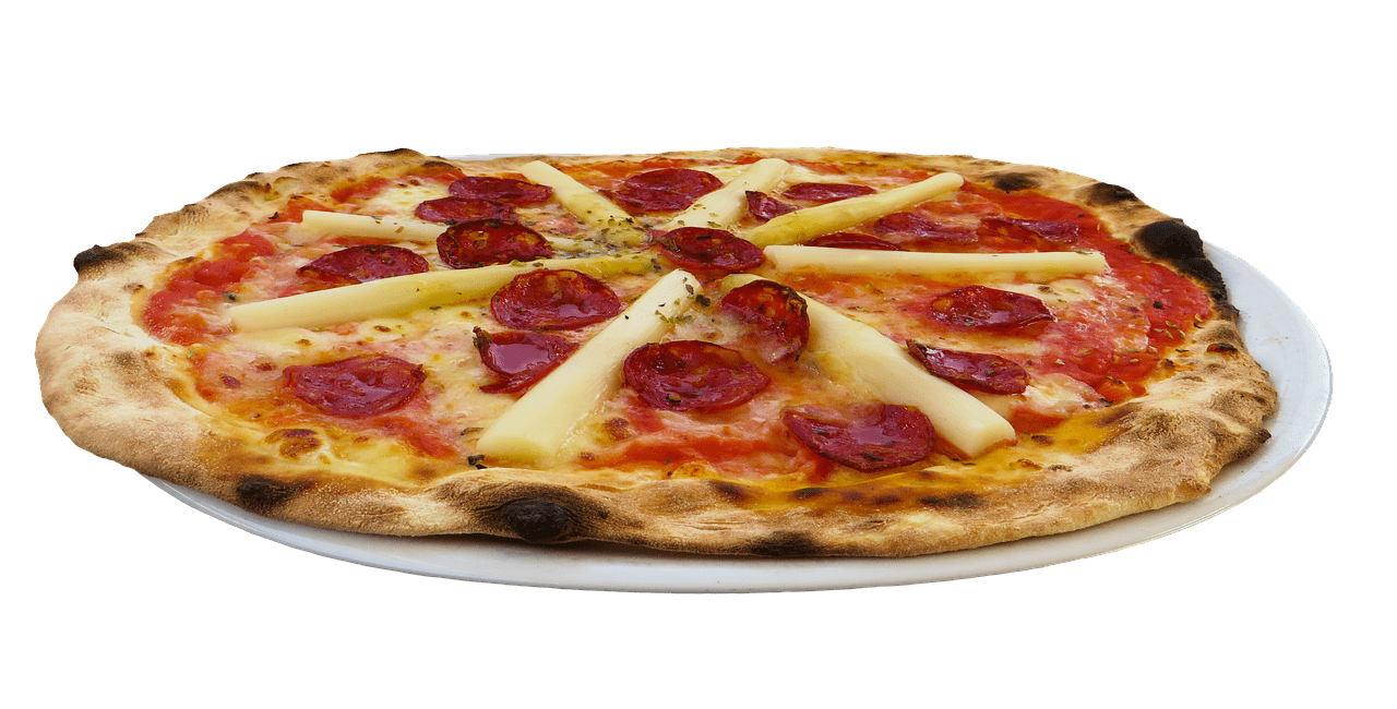 Pepperoni transparent cheese pizza. And png stickpng