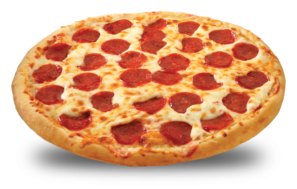 Pepperoni transparent cheese pizza. Sammys wings salad bread