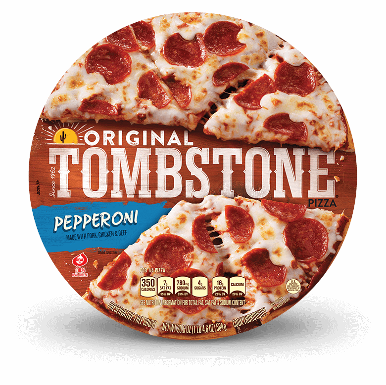 Frozen pizza original tombstone. Pepperoni transparent one png free download
