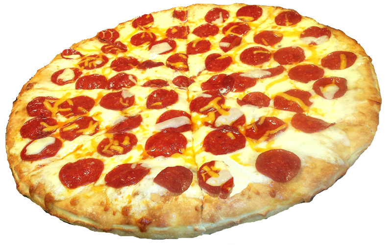 Pepperoni transparent pizza. Stickers png sticker