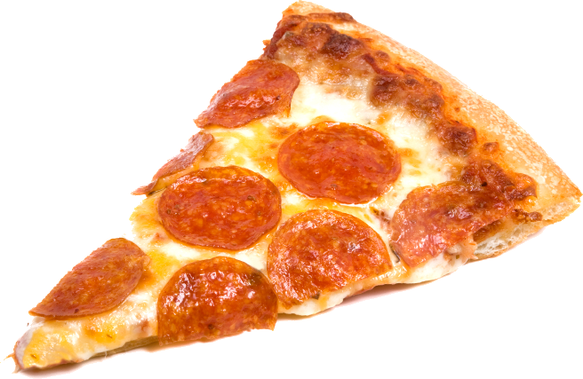 Pepperoni transparent slices. Pizza vector free