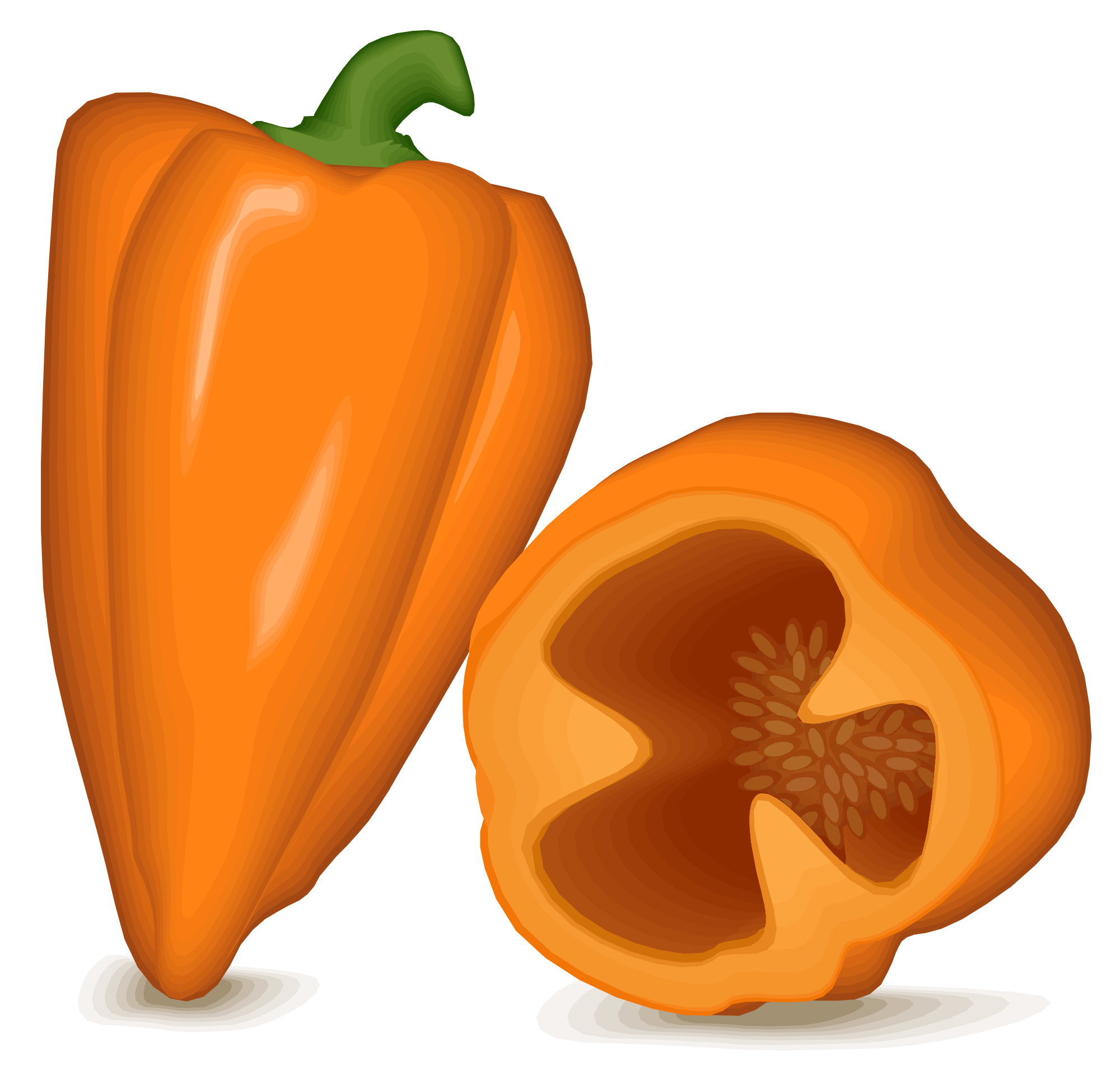Pepper transparent habanero. File peppers svg wikimedia