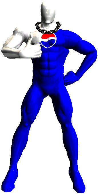 Pepsi transparent man. Render by najikanuyo on