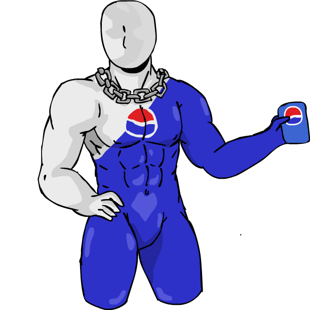 Pepsi transparent man. By dynogreen on deviantart