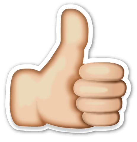Perfect emoji png. Thumbs up sign pinterest